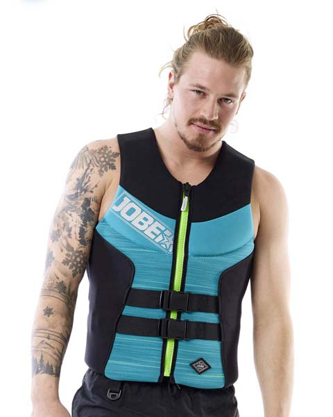 JOBE SEGMENTED VEST MEN TEAL BLUE